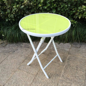 Garden Furniture Color Tempered Glass Table pictures & photos