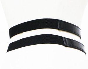Fashion Double Buckles PU Belt pictures & photos