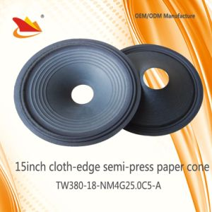 15inch Cloth-Edge Paper Cone-Speaker Parts Cone pictures & photos