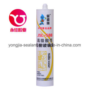 High Grade Acetic Glass Silicone Adhesive Sealant (JSL-588) pictures & photos