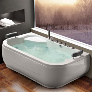 Long Freestanding Massage Bathtub with LED Light (K1292) pictures & photos