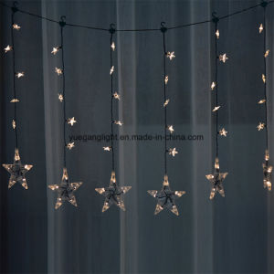 1m60LEDs LED Star Curtain Light with 8 Function Control Modes pictures & photos