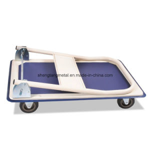 4-Wheel 150kg Foldable Platform Hand Trolley pictures & photos