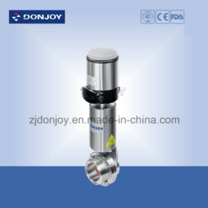 Ss316L Pneumatic Doouble Seat Mixproof Butterfly Valve Type B pictures & photos