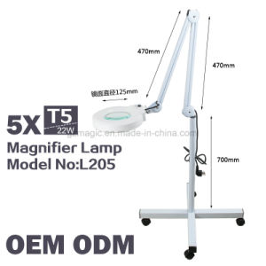 L205 Vertical 5X Magnifying Lamp for Salon Use with Wheels pictures & photos