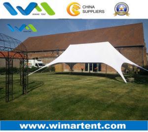 Aluminum Telescopic Pole Twin Peak Star Marquee Tent for Ramadan pictures & photos