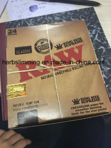 Hot Sell Raw Kingsize Supreme Smoking Rolling Paper 24 Booklets pictures & photos