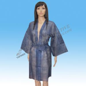 Disposable PP/ SMS Nonwoven Kimono for SPA pictures & photos