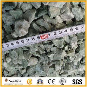 Unpolished Green/White Granite Cushed Stone for Landscape & Garden Decoration pictures & photos