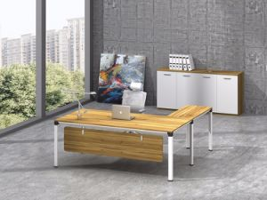 White Customized Metal Steel Office Executive Desk Frame with Ht61-2 pictures & photos