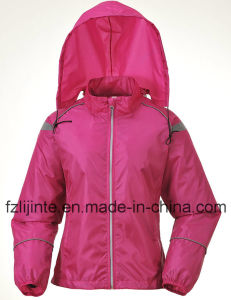Women′s Outdoor Slim Hoodie Waterproof Windbreaker pictures & photos