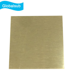 Brush Gold/Silver Blank Sublimation Personalized Aluminum Sheet Photo pictures & photos