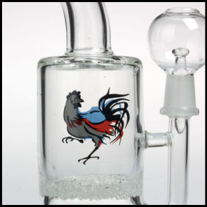 "Hfy Glass Dave Goldstein Rooster Apparatus 8"" Bubbler Oil Rigs DAB 14mm Glass Smoking Water Pipes Perc Fritted Disk Bubbler Vortex pictures & photos"