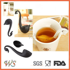 Ws-If049 Tea Infuser Loose Leaf Tea Tool Set Elegant Swan Tea Filter Set Silicone pictures & photos