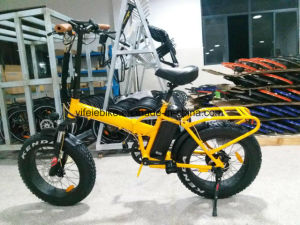 20 Inch Fast High Power Fat Tire Foldable Electric Bicycle Beach Cruiser Ebike with Throttle pictures & photos