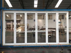 China Factory Sale Aluminum Bifold/Folding Glass Door with Low-E ...