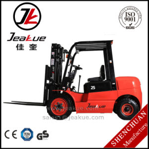 Jeakue 2ton 3m Lifting Height Diesel Forklift pictures & photos