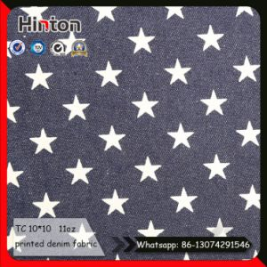 Popular Star Printed Jean Fabric for Children Dress pictures & photos