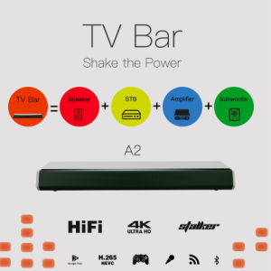 Ipremium A2 Sound Bar TV Bar with TV Box Bulit-in Bluetooth Speaker pictures & photos