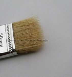 Pure Natural White China Bristle Plastic Handle Paint Brush with Cheapest Price pictures & photos