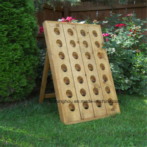 Vintage French Wood Rack Industrial Style Bottle Carrier Wine Bottles pictures & photos