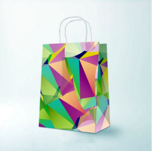 White Kraft Paper Shopping Bags with Twisted Handle pictures & photos