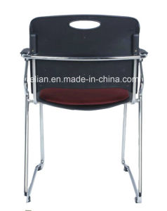 Black Back Plastic Stacking Chair with Arms and Steel Frame (LL-0055) pictures & photos