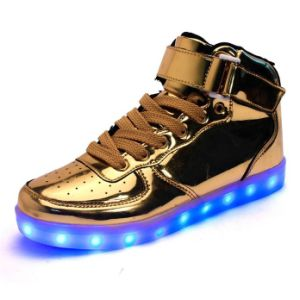 Unisex High Top LED Light Lace up Sportswear for Us Market pictures & photos