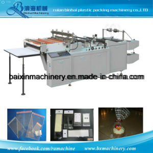 Double Lines Header OPP BOPP Bag Making Machine with Flap pictures & photos