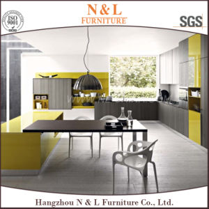 N&L L Shape Kitchen Cabinet with Quartz Stone Countertop pictures & photos