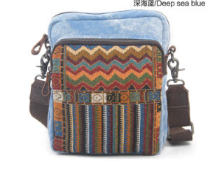 Sling Belt Jacquard Canvas Girl and Boy Factory Bag (RS-862-1) pictures & photos