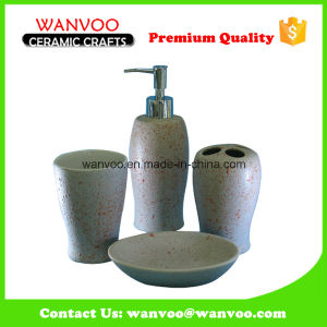 4 PCS DOT Effect Ceramic Bathroom Collection for Home Decorative pictures & photos