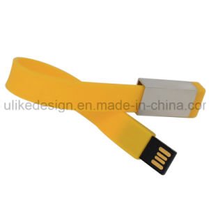 Silicon/ Rubber Wristband USB Flash Disk/ Flash Drive (UL-P006) pictures & photos