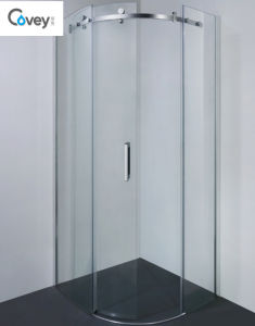 8mm/10mm Glass Thickness Round Shower Room/Sliding Shower Enclosure (Kw05k-C) pictures & photos