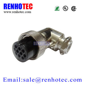 19mm Gx20 Connector Aviation Plug Female Panel Power Chassis Metal Connector pictures & photos