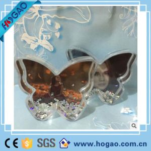 Acrylic Photo Frame Snow Globe Flower Shape Water Ball pictures & photos