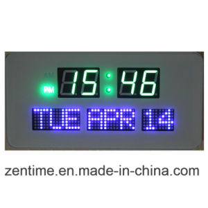 The Colorful Light LED Digital Wall Clock in Factory Price pictures & photos
