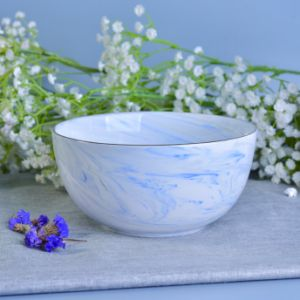 Popular Decor Bowl Shape Marbling Ceramic Candle Holders pictures & photos