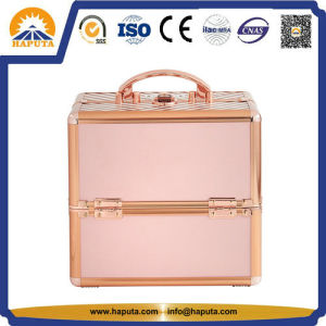 New Product Gold Aluminum Makeup Case Beauty Case Hot Sale Cosmetic Case (HB-6304) pictures & photos