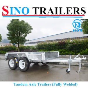 9*5 Fully Welded Dual Axle Box Trailer with Brake pictures & photos