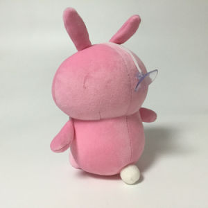 Pink Bunny Plush Stuffed Foam Beads Soft Keychain with Sucker pictures & photos