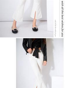 Womens Platform Stiletto Ladies Silk High Heel Sandal Leather Shoes pictures & photos