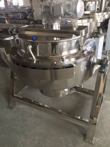 Sanitary Stainless Steel Gas Heating Tilting-Type Jacketed Kettle pictures & photos