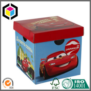 Folding Cardboard Paper Archive File Storage Box with Lid pictures & photos