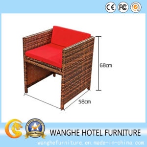 Wholesale Cheap Metal Tube PE Rattan Wicker Chair pictures & photos