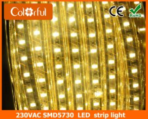Long Life High Brightness AC230V SMD5730 Flexible LED Strip pictures & photos