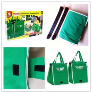 Promotional Easy Carry Foldable Shopping Bag Clip on Trolley pictures & photos