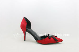 New Sexy Design Fashion High Heels PU Women Shoes pictures & photos