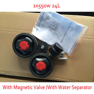 550W 24L with Magnetic Valve Oil Water Separator Double Pressure Gage Silent Air Compressor pictures & photos