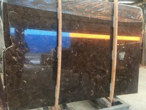 Dark Emperador Brown Marble Slab for Floor Walls Countertop pictures & photos